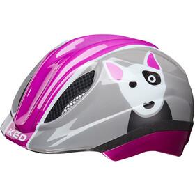 KED Meggy Trend casco per bici Bambino grigio/rosa